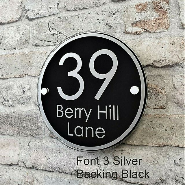 Personalise Modern Acrylic House Sign Door Number Apartment  Street Address #A8