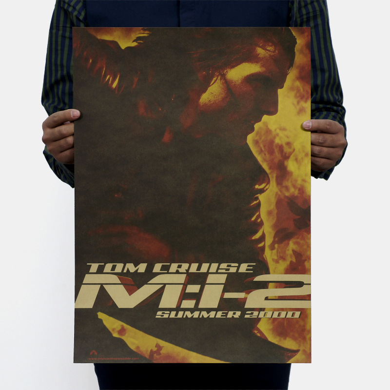 Mission Impossible II/Nostalgic Retro/Classic Movie Kraftpaper Poster Core 51.5x36cm Retro