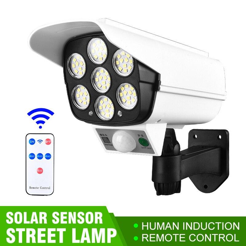 77 LED Solar Light Simulation Camera Solar Powered Light Street Spotlight Solar Lamp Outdoor Garden Security Light Wall Lamp