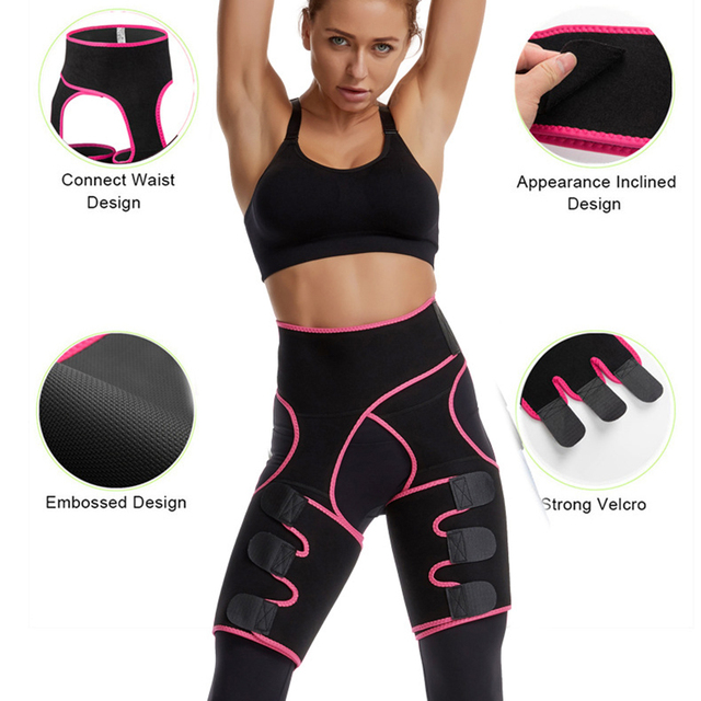 Woman And Man Unisex Trimmer Leg Shapers Slender Slimming Belt Neoprene Sweat Shapewear Muscles Band Thigh Slimmer Wrap 3