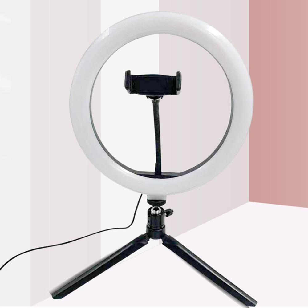 26cm Round selfie Stick Photography ring light tripod For Youtube Tik tok Video Live Photo Studio make up ringlight Ring Lamp