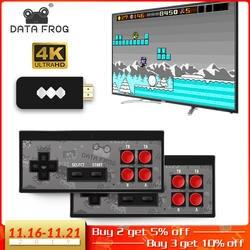Данных лягушка USB беспроводной портативный ТВ Видео игровая консоль встроенный в 600 Классическая игра 8 бит мини видео консоль Поддержка