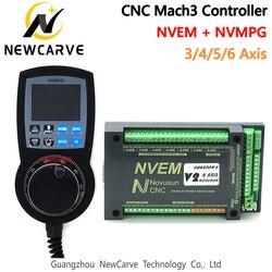 Набор NVEM Ethernet-разделительная плата с ЧПУ, маховик NVMPG Mach3 с ЖК-дисплеем, 6-осевой MPG для DIY фрезерного станка с ЧПУ