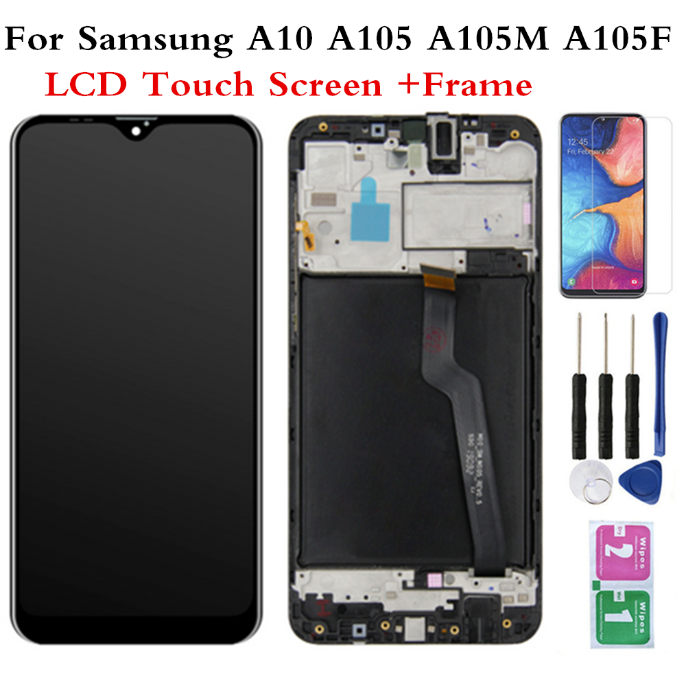 LCD For SAMSUNG Galaxy A10 SM-A105F/DS Screen Display Touch Digitizer Assembly Assembly With Frame For SAMSUNG A105G A105M A105 image