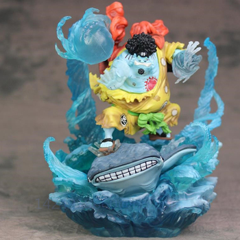 Anime ONE PIECE Jinbe Merman Karate Ocean Current Suplex Battle Ver PVC Action Collectible Model Statue Toy Free Shipping G719 image