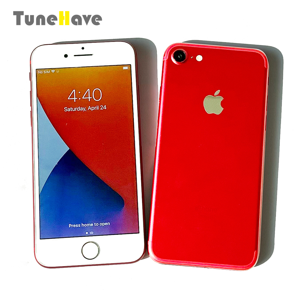 Оригинальный Смартфон Apple iPhone 7 и iPhone 7 plus, 4G LTE, IOS, камера 12 МП, Touch ID, 32 ГБ/128 ГБ/256 Гб ПЗУ, сканер отпечатка пальца, б/у