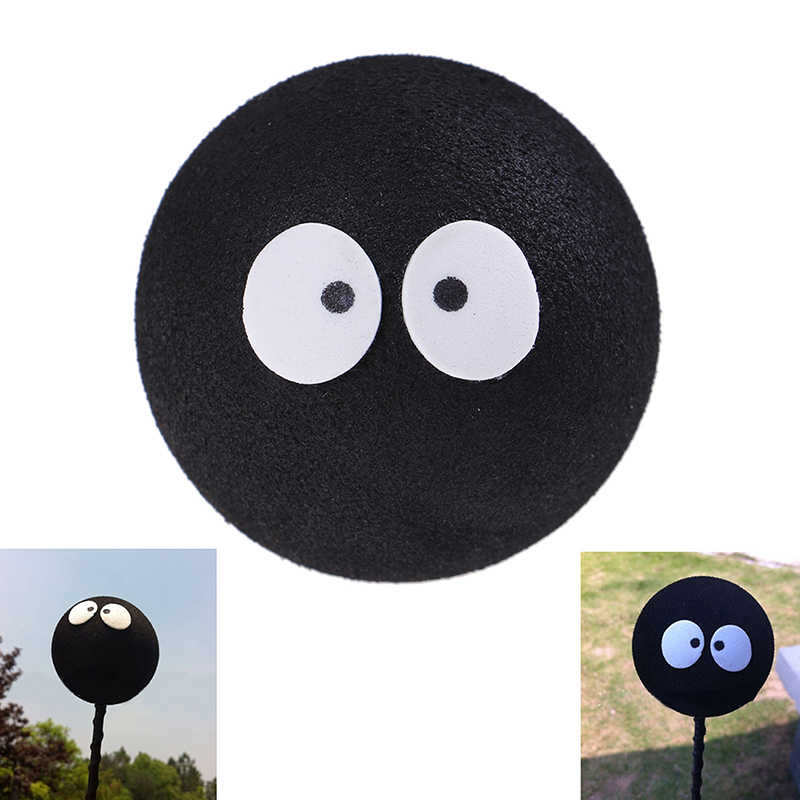 1Pc Black coal ball Car Styling Roof Ornament Cute Funny Cartoon Doll Antenna Balls Plush EVA Foam Aerial Toppers Decoration