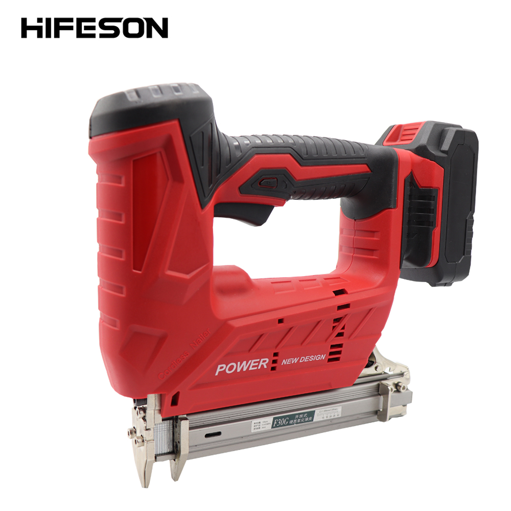 Wireless Electric Nail Guns 1500/3000MA F30C 30mm Nailer Stapler Tools For Furniture Frame Carpentry Wood Working