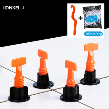 50pcs +100pcs Tile Spacer Reusable Wall Tile Leveling System Leveler Wedges Spacers Flooring Wall Tile Carrelage Leveling System 800 tile spacer leveling system 500 clips 300 wedges spacers flooring tool set
