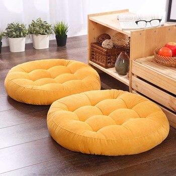 1pcs Thicken Round Futon Hassock Seat Cushion Tatami Mattress Pouf