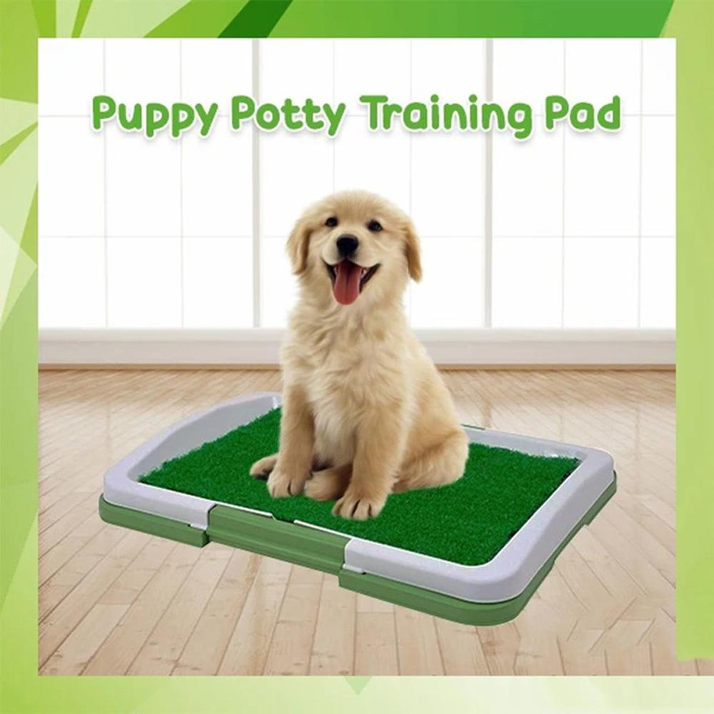3 Layers Large Dog Pet Potty Training Pee Pad Mat Puppy Tray Grass Toilet Simulation Lawn For Indoor Potty Training