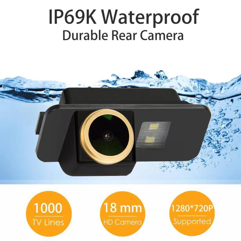 HD 720p Backup Camera Waterproof Rear-View License Plate Car Rear Backup Parking Camera for Hyundai Santa Fe Creta IX25 IX45 2013-2016