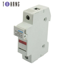 цена на High Quality Rt18-32x Ac 380v 32a 1 Pole 10x38mm Din Rail Mount Fuse Holder Base for protecting the electrical circuit