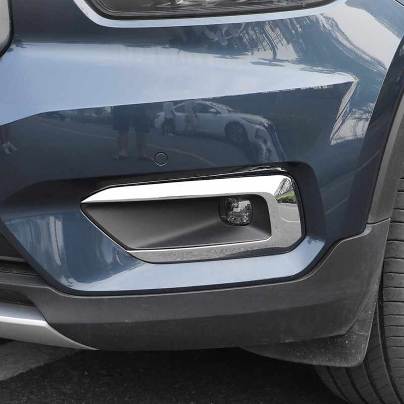 NIUASH Car Front fog lamp decorative frame Trims Decoration Car Styling Accessories,For Volvo XC40 2018 2019