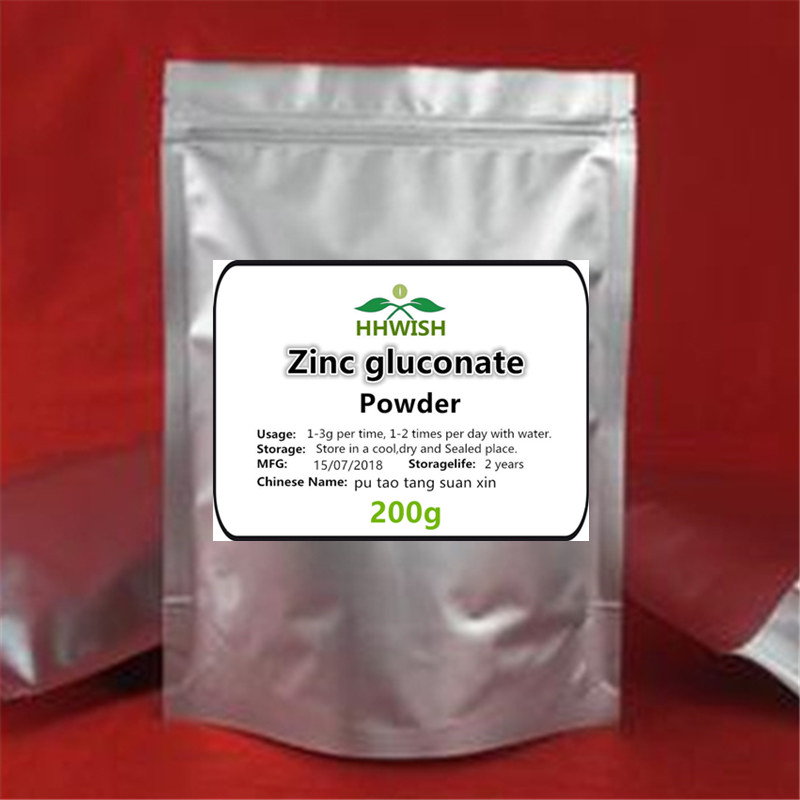 50g-1000g Pure Zinc Gluconate Powder ,Nutritional Fortifier, Improving The Immune,free Shipping