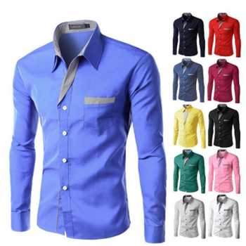 Hot Sale New Fashion Camisa Masculina Long Sleeve Shirt Men Slim fit Design Formal Casual Brand Male Dress Shirt Size M-4XL