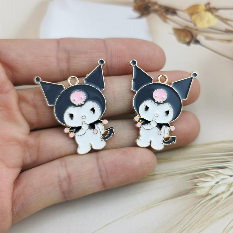 10pcs Cartoon figureEnamel Charms Pendants Cute Dancing Snowbaby Metal Charms DIY Bracelet Earrings For Jewelry Accessories 6