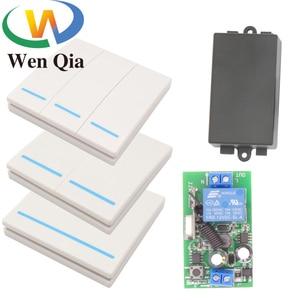 433 МГц 1/2/3 банды умный беспроводной переключатель AC220V 10A 1CH приемник RF универсальная настенная панель для домашнего освещения лампа светодио...