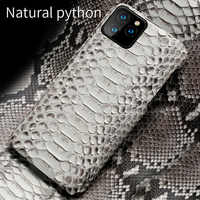 Genuine Python Leather Phone Case For iPhone 11Pro 11 Pro Max X XS max XR 5s 5 6 6s 7 8 Plus SE 2020 New snakeskin luxury Cover