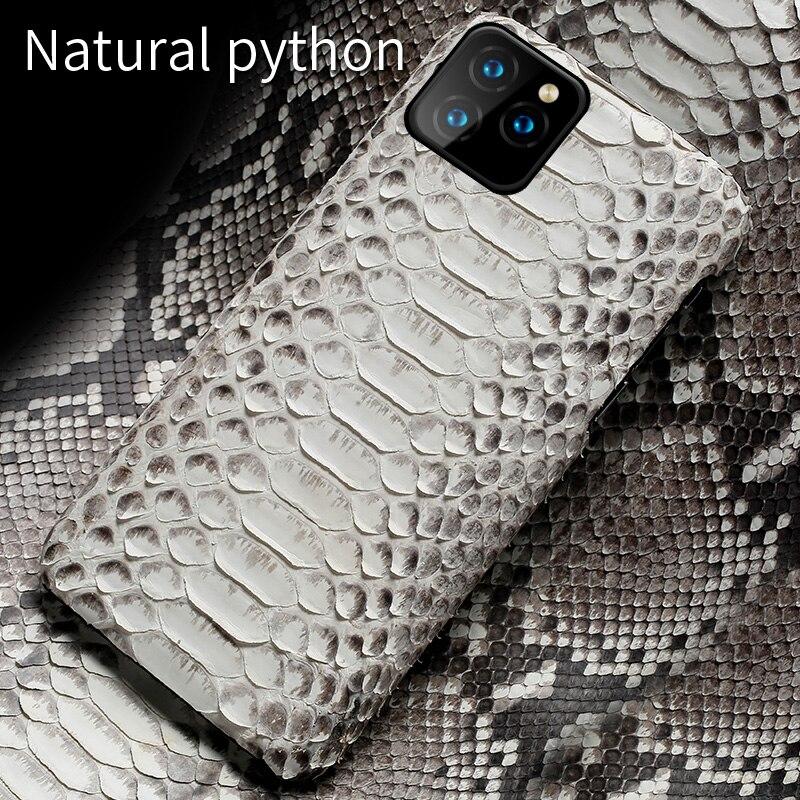 Чехол для телефона из натуральной кожи питона для iPhone 11 11 Pro 11 Pro Max X XS xsmax XR 5s se 5 6 6s 7 8 plus Роскошный чехол из змеиной кожи