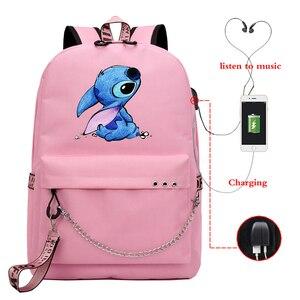 Женский школьный рюкзак на молнии, с USB-зарядкой