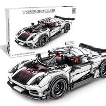цена на Simulation Sports Car Model Kit Compatible Legoing Boys DIY Educational Assembled Building Blocks Brick Children Toys Gift P43