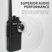 מכשיר הקשר 2pcs 10W DMR Digital Radio IP67 טווח ארוך רדיו Waterproof מכשיר הקשר Retevis RT81 UHF400-470MHz 2Zone VOX מוצפן שני הדרך (4)