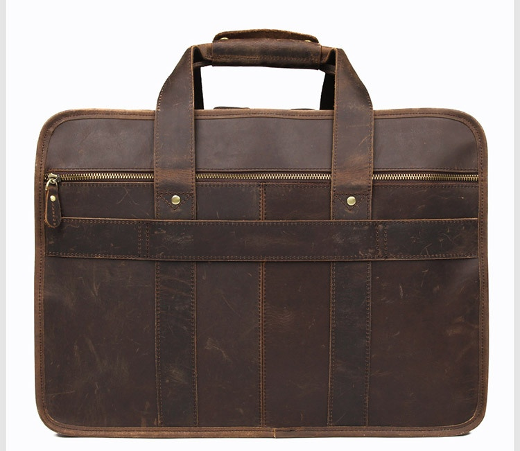 H97255d9dce534c3ab460f814439f52173 MAHEU Vintage Leather Mens Briefcase With Pockets Cowhide Bag On Business Suitcase Crazy Horse Leather Laptop Bags 2019 Design