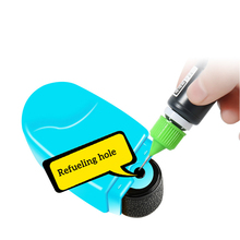 1pc/3pcs/set Refill Ink Black Ink for Identity Guard Theft Protection Roller Stamp Photosensitive Stamp Refilling Ink