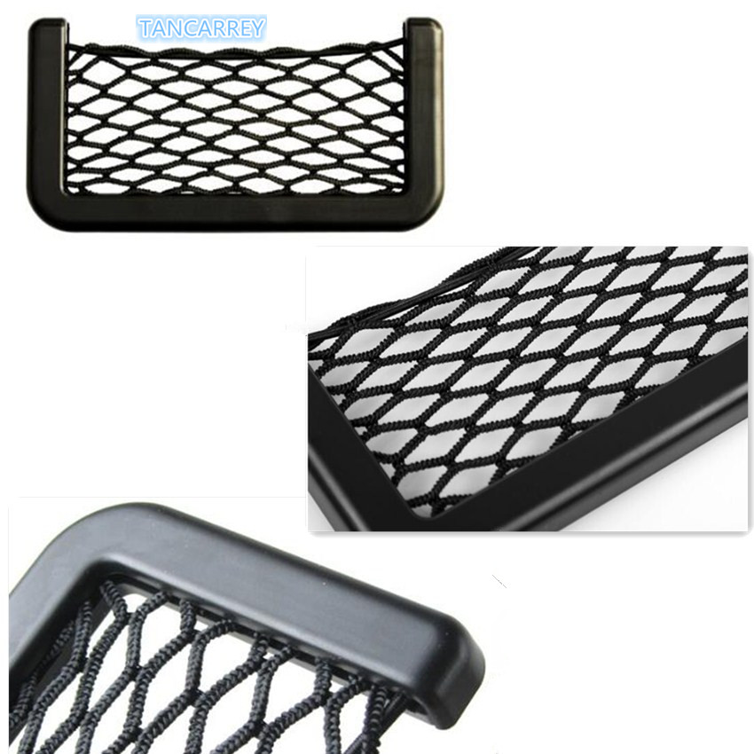 Car storage elastic mesh bag for ford focus 2 kia rio <font><b>chevrolet</b></font> cruze toyota solaris kia ceed lada vesta lada Accessories image