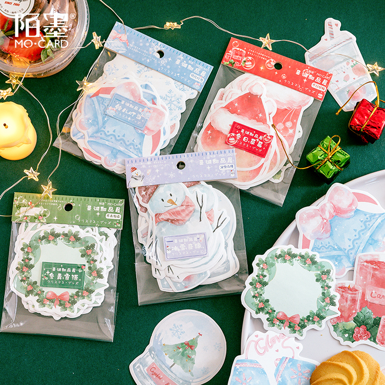 Christmas Dessert House Series Sticky Notes Memo Pad Diary Stationary Scrapbook Decorative Cute Strawberry Wreath N Times Sticky