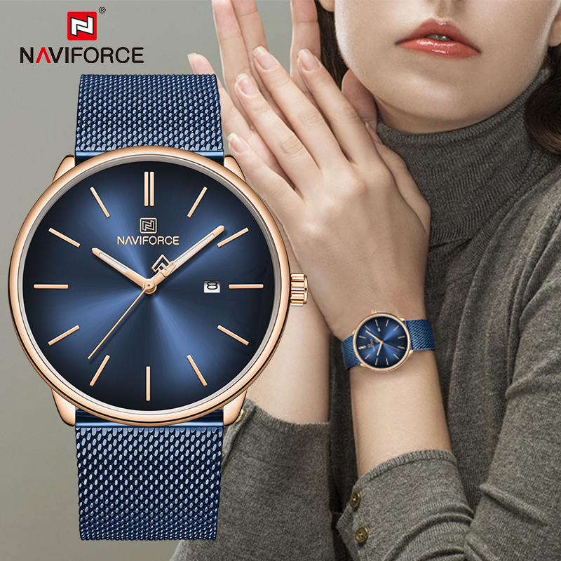 Women Watches NAVIFORCE Simple Fashion Ladies Quartz Wristwatch Date Display Waterproof Clock Female Girls Gift Relogio Feminino