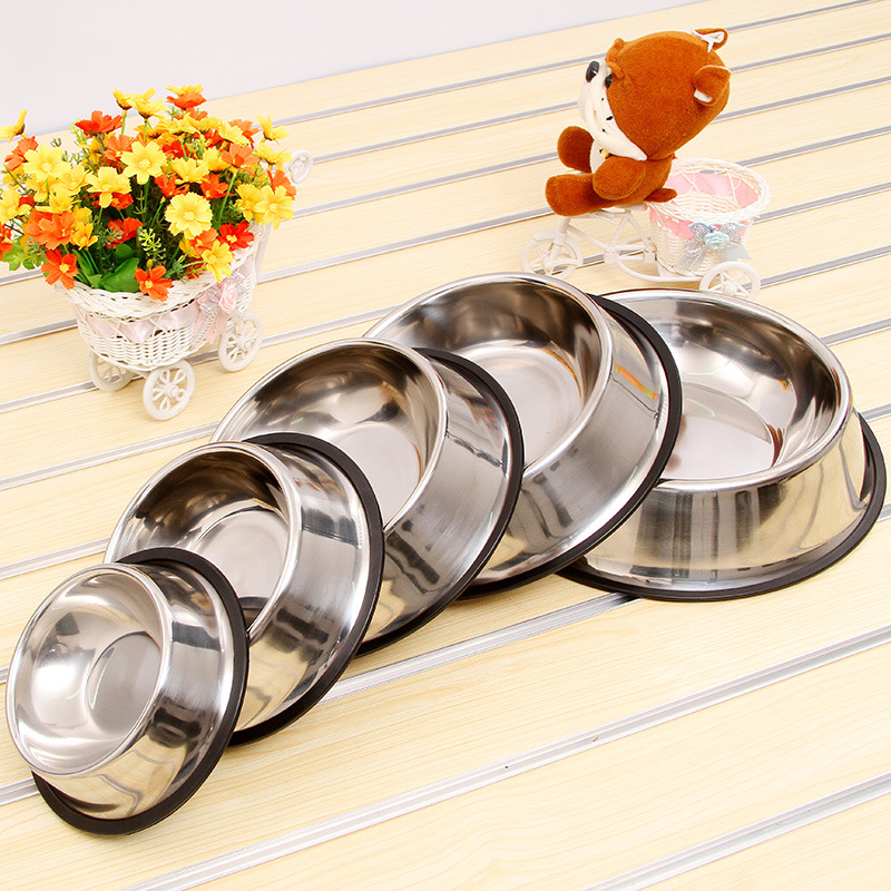 Factory Price Pet Food Bowl Anti-slip Stainless Steel Dog Bowl Teddy Dog Bowl Golden Retriever German Shepherd Large Size Dog Bo image