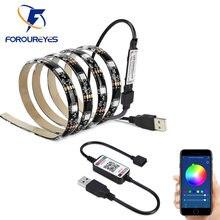 USB LED Strip Light Smart APP Control SMD 5050 Colorful DC5V Flexible RGB Led Tape Ribbon Wireless TV Background Lighting