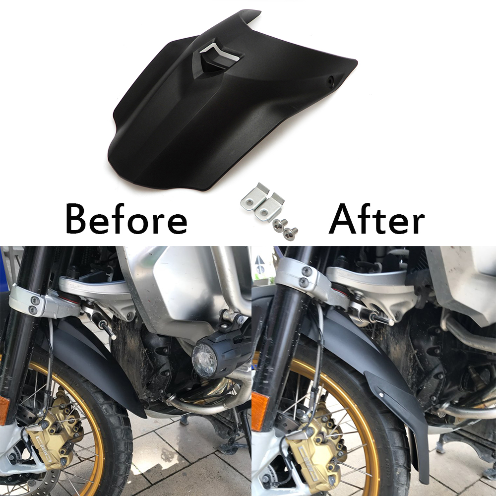 Black Front Fender Mudguard Extension For BMW R1200GS LC 13-17 R1200GS ADV 14-17