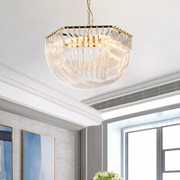 Nordic Современная необычная люстра Освещение в гостиную минималистский личность дизайнерские декоративные светильники Стекло лампы для вил