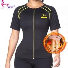 SEXYWG Neoprene Sanna Shirt Waist Trainer for Women Slimming Shapewear  Vest Weight Loss Body Shaper Sport Top Blouse