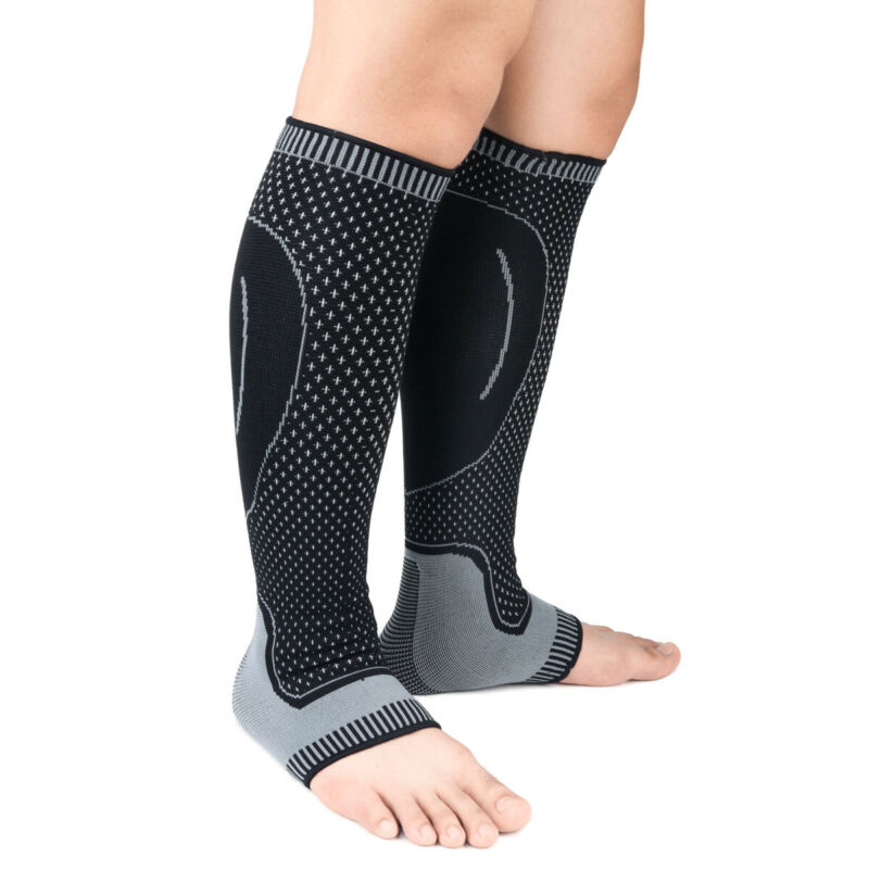 1 Piece Mens Womens Compression Socks Casual Running Medical Sports Calf Support Elastic Stress Socks 4 Colors