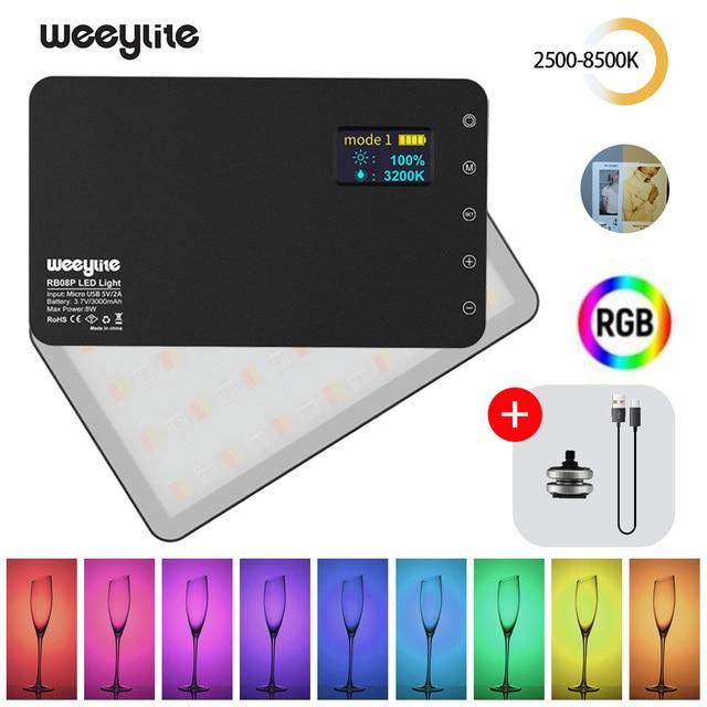 VILTROX Weeylife RB08P RGB 2500K 8500K Mini Video LED Light Fill Light Built in Battery for Phone Camera Shooting Studio