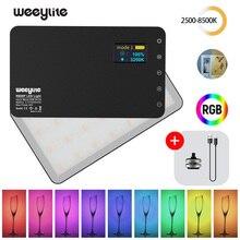 Viltrox weeylife rb08p rgb 2500k 8500k mini vídeo led luz de preenchimento bateria embutida para o estúdio de tiro da câmera do telefone