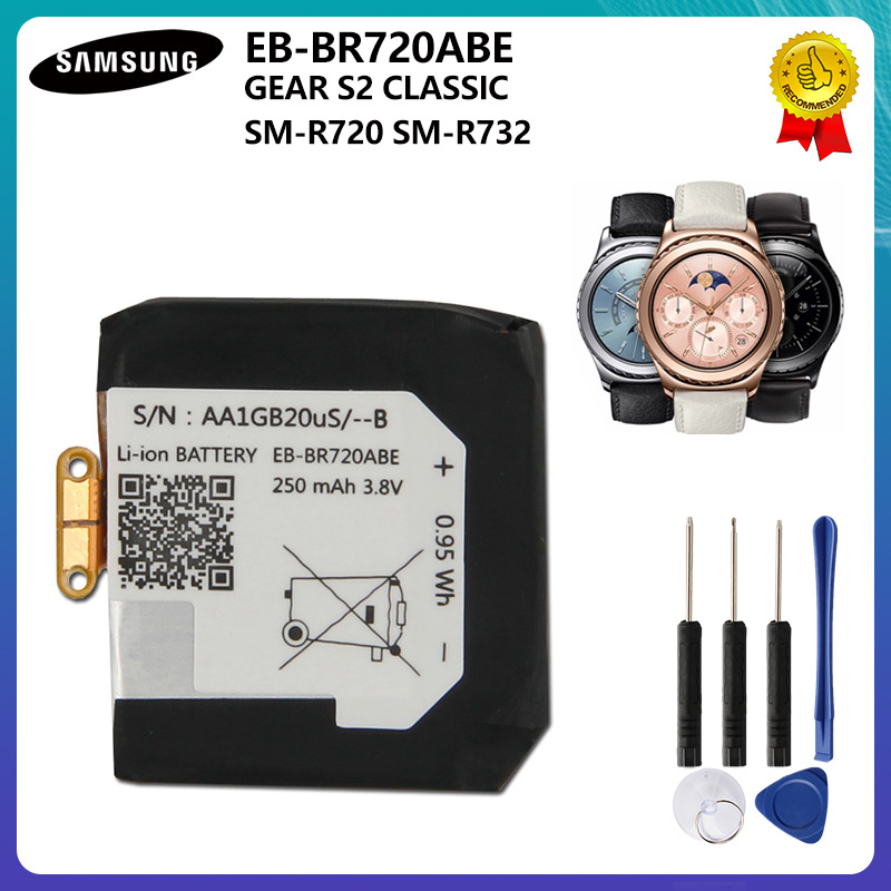 Original Battery EB-BR720ABE For Samsung Gear S2 Classic SM-R720 R720 SM-R732 R732 250mAh