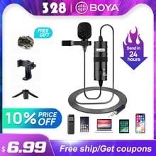 BOYA BY M1 3.5 millimetri Audio Video Record Lavalier Risvolto Microfono per il iPhone Android Mac Vlog Microfono per DSLR Videocamera Portatile Della Macchina Fotografica reco