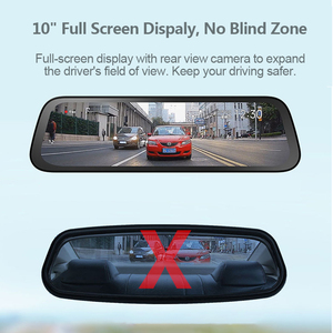 Image 4 - 70mai Rearview Mirror Camera Wide 9.35 inch Full Screen Stream Media Dash Cam Wifi 1080P 70 Mai Car DVR Rear View Camera