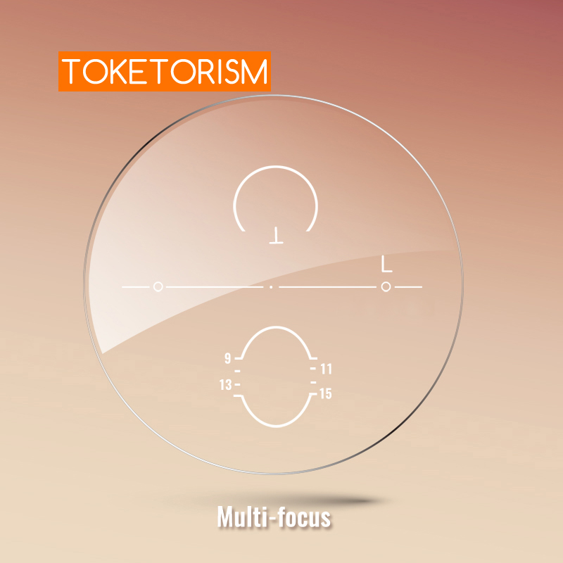 Toketorism Multifocal Lenses Customize Photochromic Anti Blue Light Progressive Prescription Glasses MF156