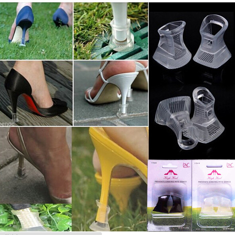 10 Pairs High Heel Protectors Latin Stiletto Dancing Covers Heel Stoppers Antislip Silicone High Heeler For Wedding Favor Soft