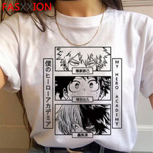 T camisa legal todoroki gráfico tshirt hip hop camiseta masculina meu herói academia bakugou camiseta homem bonito anime boku nenhum herói academia t