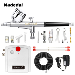 Image 2 - Nasedal NT 19 Dual Action Airbrush with Compressor 0.3mm  Spray Gun Airbrush Kit for Nail Airbrush for Model/Cake/Car Painting