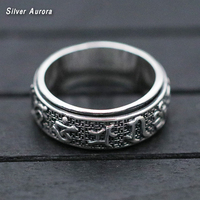 new arrival High rotation mantra letter ring real 925 sterling silver 925 fine jewelry for men and women wedding rings