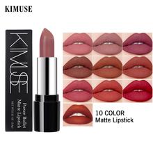 KIMUSE 10 kolorów matowe szminki wodoodporne matowe szminki pomadki do ust kosmetyczne łatwe w noszeniu matowe szminki do makijażu Batom tanie tanio CN (pochodzenie) Wodoodporna wodoodporny KIMUSE-KS501 Lipstick 3 5g CHINA GZZZ YGZWBZ 2019109206 Szminka Long-lasting Matte