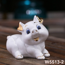 Ceramic Zodiac lucky pig year decoration ornaments Feng Shui Zhao living room home lovely Meng Da birthday gift